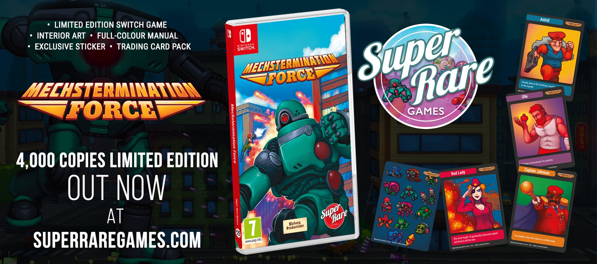 Super Rare Games Mechstermination Force Switch contest