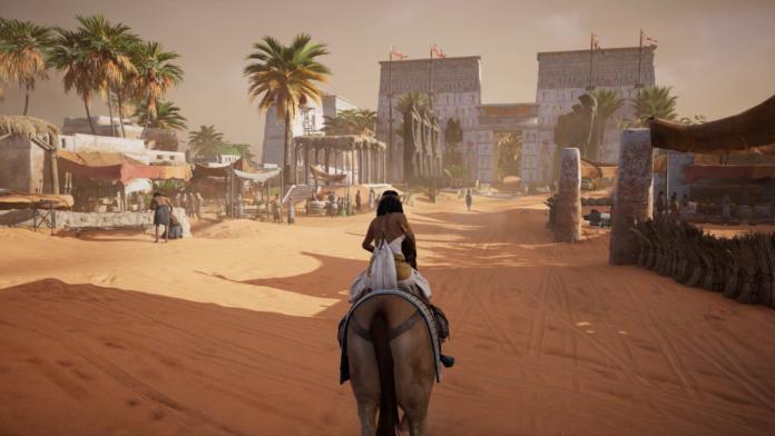 À travers les mers de sable d'Égypte dans Assassin's Creed Origins