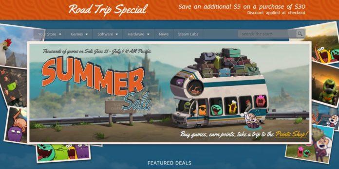 Lancement officiel de la vente d'été Steam aujourd'hui