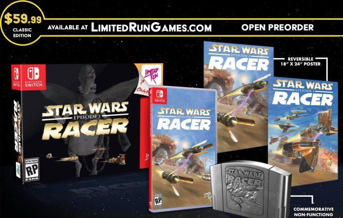 L'édition classique de Limited Run de Star Wars Episode I: Racer est lourd de nostalgie N64