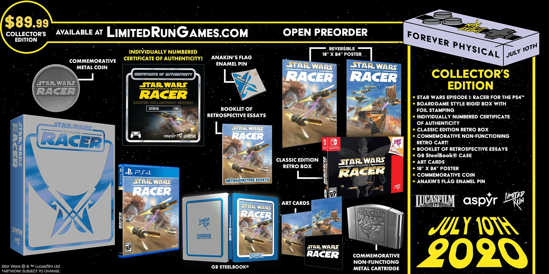 Star Wars Episode I: Racer édition collector Limited Run Games