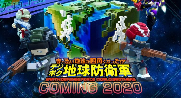 Earth Defence Force World Brothers est un spin-off voxel-graphique sur PS4 et Switch