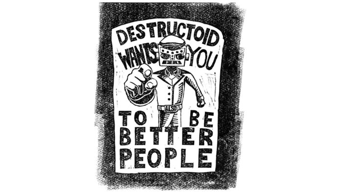 Nous ramenons deux chemises Destructoid old school