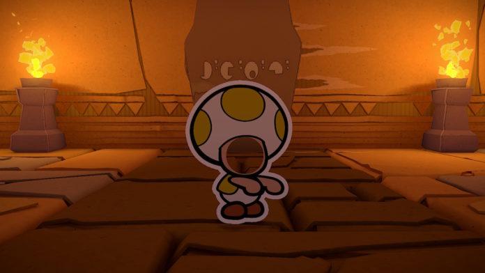 Paper Mario: Le roi de l'origami - Couper le serpentin jaune   Procédure pas à pas du Temple of Shrooms