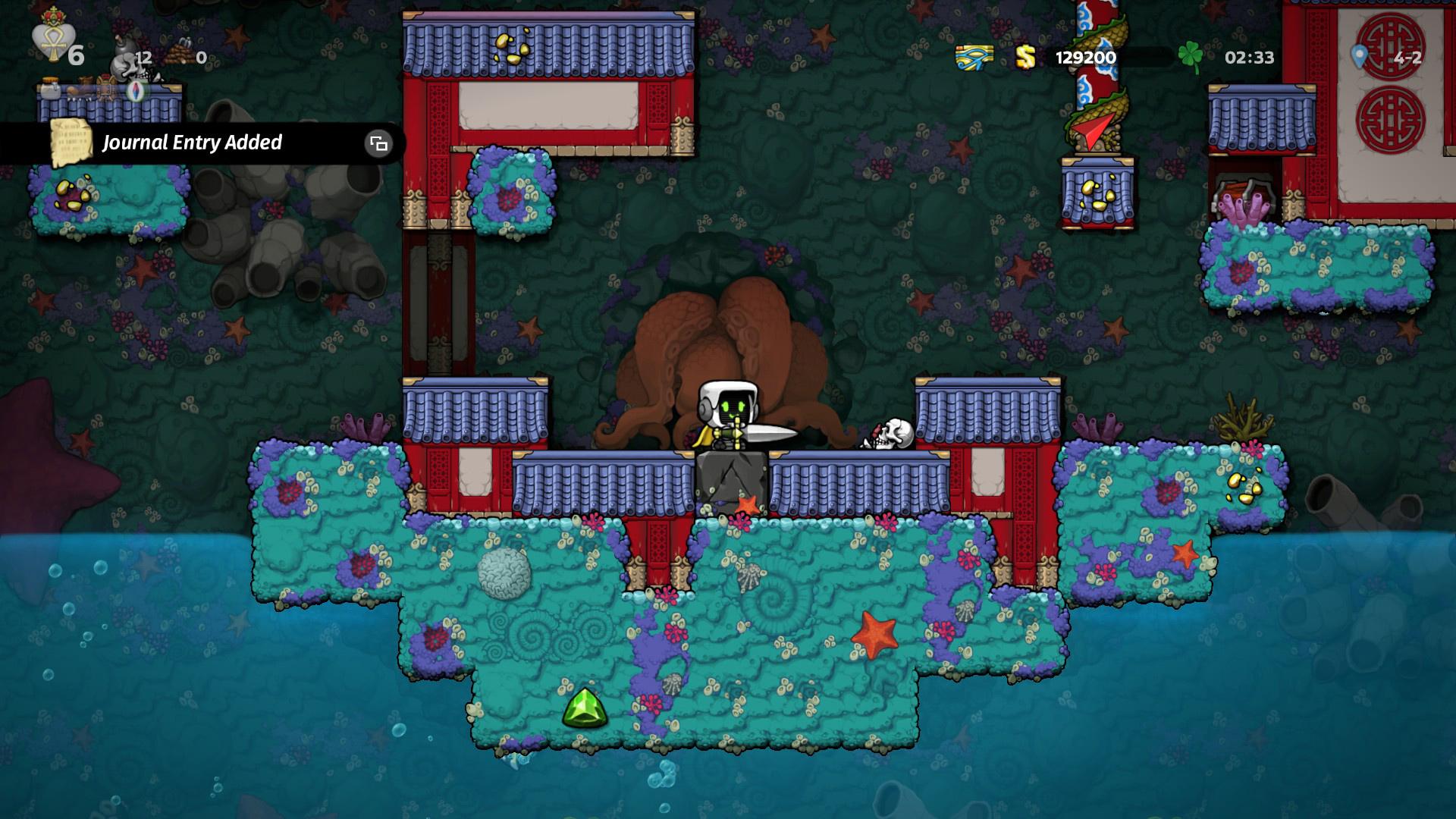 Comment tirer l'épée Excalibur de la pierre dans Spelunky 2