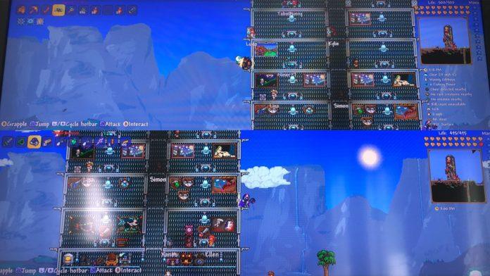 Terraria a obtenu une mise à jour Switch pour la coopération en écran partagé à deux joueurs