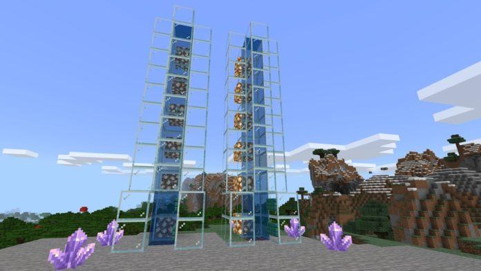 Minecraft-water-elevator